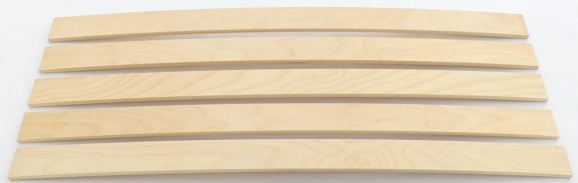 federholzleisten 5er paket 12mm st rke fachhandel f r lattenrostersatzteile. Black Bedroom Furniture Sets. Home Design Ideas